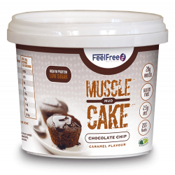 FEEL FREE MUSCLE MUD CAKE (CHOC CHIP CARAMEL)