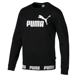PUMA AMPLIFIED FLEECE SWEATER (BLACK)