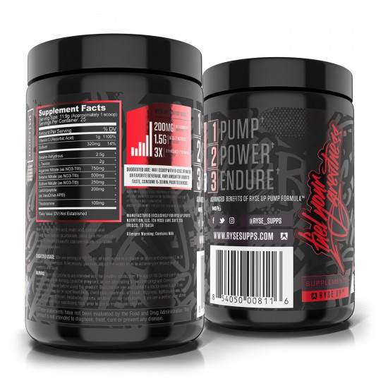 RYSE PRE-WORKOUT PROJECT BLACK HIGH PUMP (25 SERVING)
