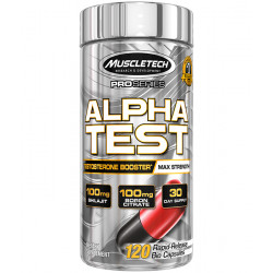 MUSCLETECH ALPHATEST (120 CAPSULES / 60 SERVINGS)
