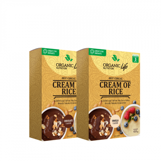 ORGANIC LIFE NUTRITION CREAM OF RICE CEREAL (450G)