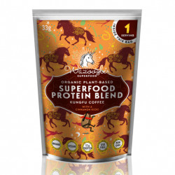 WAZOOGLES SUPERFOOD PROTEIN BLEND - KUNGFU COFFE (33G)