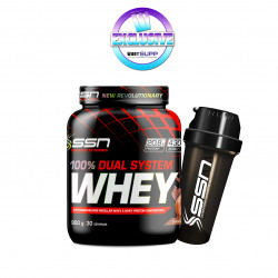 SSN (STACK 3) DUAL WHEY 900G + FREE SHAKER