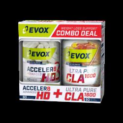 EVOX ACCELER8 HD (80 CAPS) + ULTRA CLA (90 CAPS) COMBO