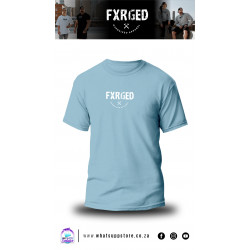 FXRGED UNISEX T-SHIRT (BABY BLUE)