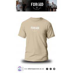 FXRGED UNISEX T-SHIRT (KHAKI)