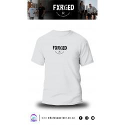 FXRGED UNISEX T-SHIRT (WHITE)