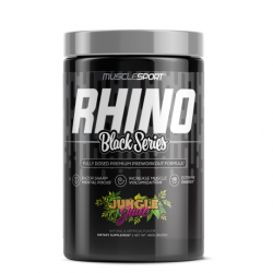 MUSCLESPORT RHINO BLACK SERIES PRE-WORKOUT 460G (20/40 SERVING)